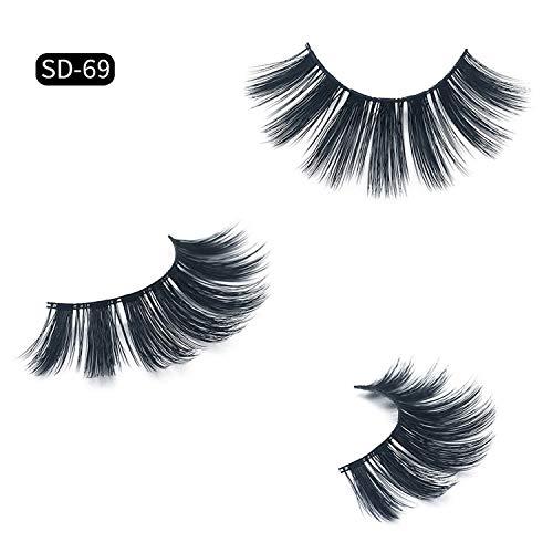 2019 Eyelashes 1Pair 100% 3D Mink Lashes Luxury Hand Made Reusable Mink Lash Long Lasting Volume Lashes Extension False Eyelashe,Sd-69 -