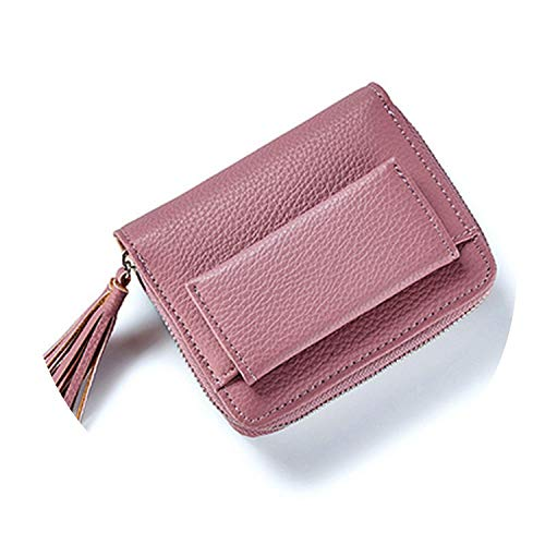 Hot Sale Fashion Short Tassel Women's Wallets Lady Mini Card Holder Wallet,Dark Pink