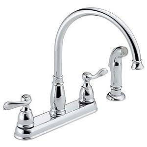 Delta Windemere 21996lf Two Handle Kitchen Faucet Chrome