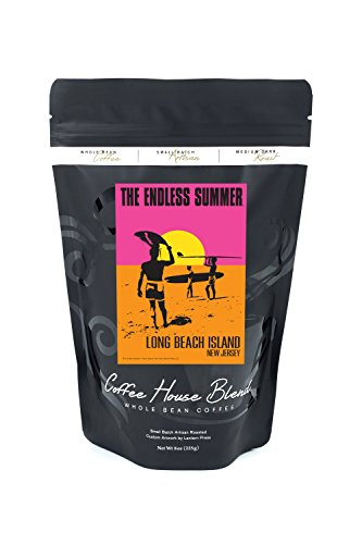 Long Beach Island, New Jersey - The Endless Summer - Original Movie Poster (8oz Whole Bean Small Batch Artisan Coffee - Bold & Strong Medium Dark Roast w/ Artwork) by Lantern Press