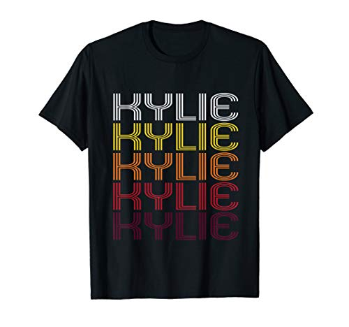 Kylie Retro Wordmark Pattern - Vintage Style T-shirt