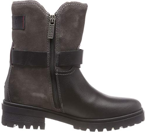 Cleated Negro Boot Estilo black Botas Warm Biker 990 Tommy Motero Jeans Para Mujer p1qvFE