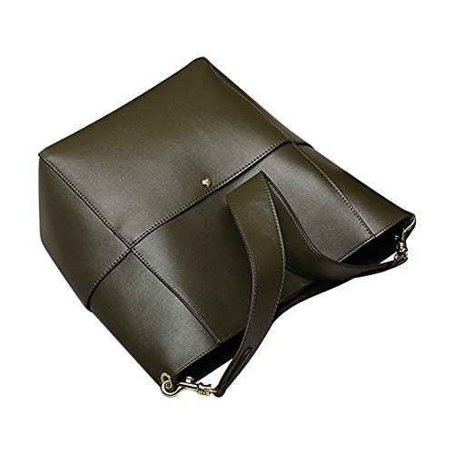 S-zone Leather Shoulder Bag Tote Handbag Bucket Ladies Commuting Jp F s