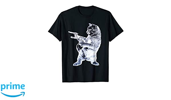 3156046d Amazon.com: Gunslinger Kitty - Cat T-Shirt: Clothing