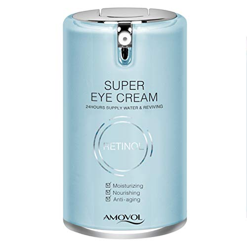 41lM97kT6aL - Eye Cream for Dark Circles and Puffiness with Retinol & Grape Seed Extract, Best Anti Aging Under Eye Treatment For Women & Men, Refreshing, Hydrating, Soothing, 1oz, Mothers Day Gifts for Her His