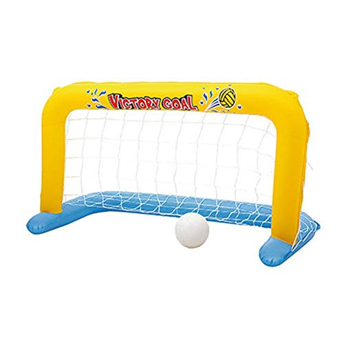 TRRAPLE Pool Volleyball Game, 1 Pcs Inflatable Volleyball Game Set with Adjustable Net and 1 Ball, Floating Swimming Pool Toy for Adults and Kids 137 X 66 cm (Best Volleyball Pc Game)