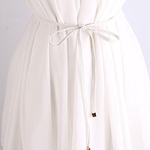 Jupe Belt Rope Blanc Weave Robe Pantalon Fille Mode Accessoire Femmes Pour Style Adeshop U1qwgRAPxq