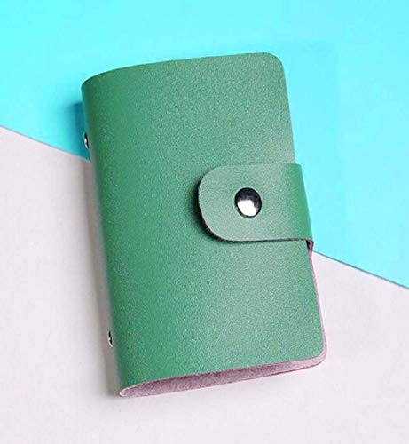 Clearance Sale!DEESEE(TM)Men Women Leather Credit Card Holder Case Card Holder Wallet Business Card (Army Green)
