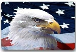 """Good_quality Custom American Eagle Flag Welcome Doormat Rug Indoor/Outdoor Door Mats Decor 23.6""""(L) x 15.7""""(W) Non Slip"""