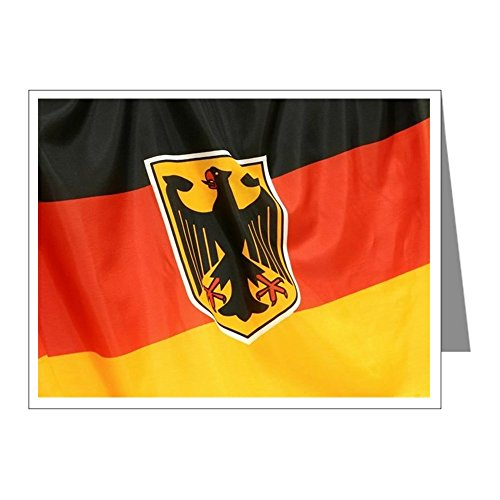 Greeting Card German Flag Waving ()