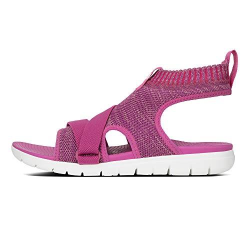 Bride Sandals Back Femme Pink strap Fitflop Dusky Uberknit Fuchsia Cheville 6FfwvxIq