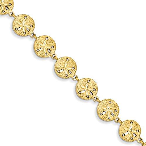 Sand Dollar Bracelet 14 carats - 7 mm-Fermoir mousqueton-JewelryWeb