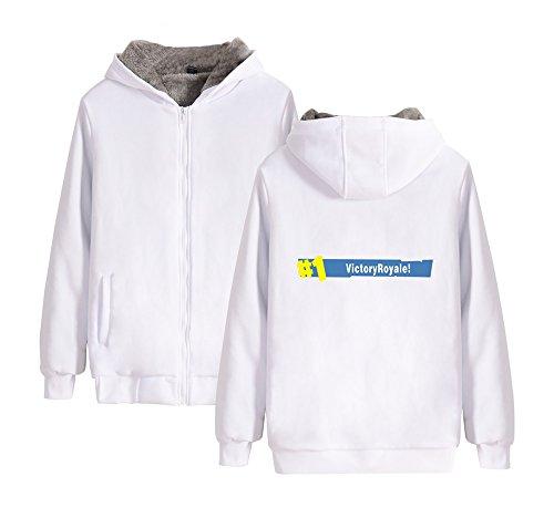 Cerniera Uomo Hoodie Giacche Felpe Maniche Pullover Unisex Sweatshirt E Fashion Cappuccio Lunghe Con Invernale Donne Ailient Calda Per White2 Pile Fortnite T8OZxEEw