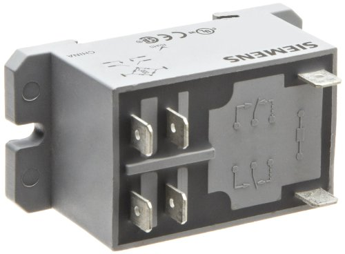 Siemens 3TX7131-4CF13 Basic Plug In Enclosed Power Relay, DPST-NO Contacts, 30A Contact Rating, 120VAC Coil (Dpst Relay)