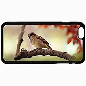 Customized Cellphone Case Back Cover For iPhone 6 Plus, Protective Hardshell Case Personalized Birds Bird On The Tree 18653 Black