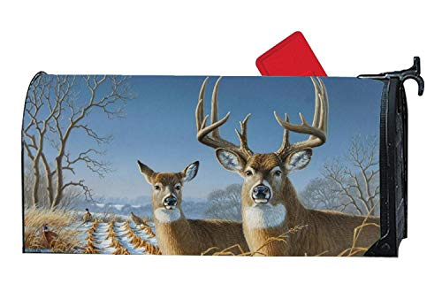 (Personalized Decorative Magnetic Mailbox Cover Vinyl Standard Mailbox Wrap with Pheasants Design 6.5
