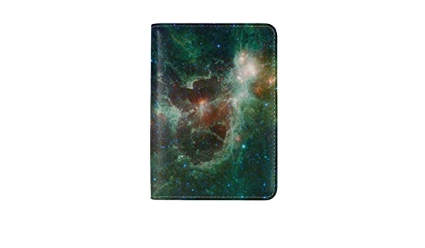 JiaoL Nebula Space Cluster Leather Passport Holder Cover Case Travel One Pocket