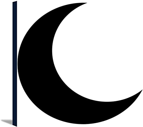 amazon com crescent moon vector icon 9014406 12x12 gallery wrapped stretched canvas posters prints crescent moon vector icon 9014406 12x12 gallery wrapped stretched canvas