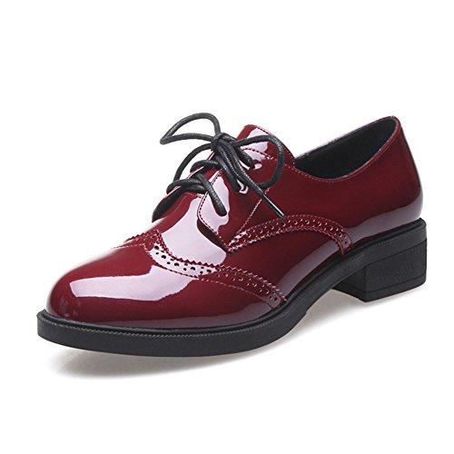 Las señoras de Inglaterra/zapatos cuero/Zapatos del estudiante A