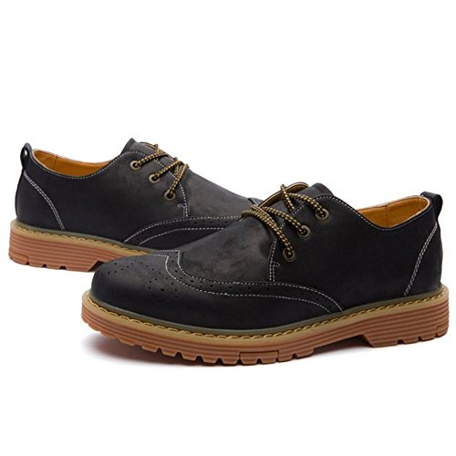 231 Men's Shoes Up Black Industrial KemeKiss Lace amp; Construction Fashion pqU84nS8