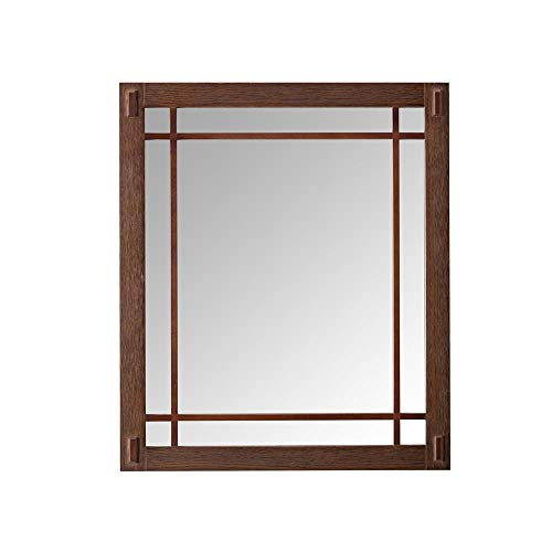 - Home Decorators Collection Artisan 25.5 in. W x 30 in. H Framed Single Wall Mirror in Dark Oak