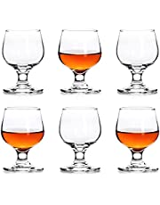 Shot Glasses, 3.5oz Shot Glass Set of 6/Clear Shot Glasses/Cute Shot Glasses/Perfect for Tasting Brandy/Glass Snifters