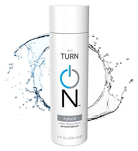 Hybrid Lube, Water & Silicone based Sexual Lubricant (8oz) by Turn On Personal Lubricant