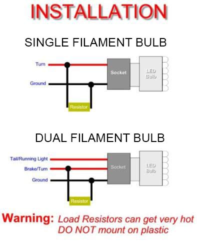 wiring load resistors schematic wiring diagram led resistor install led resistor wiring wiring diagram blog wiring load resistor into parking light amazon com 2pcs 50w