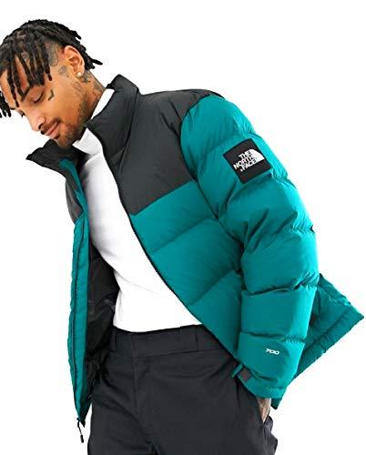 The North Face Men 1992 Nuptse Jacket in EverGlad/Asphalt Grey Medium