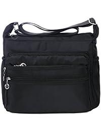 a9ad5764e3a6 Crossbody Bag for Women Waterproof Shoulder Bag Messenger Bag Casual Nylon  Purse Handbag