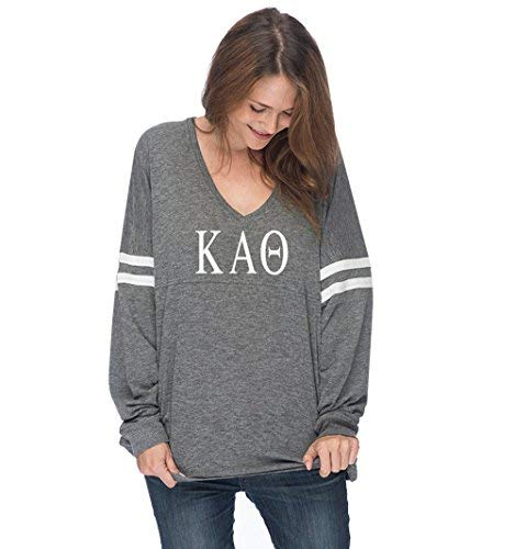 Kappa Alpha Theta Varsity Long Sleeve T-Shirt (M (6-8))