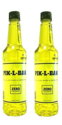 PIK-L-BAK Veteran Owned Zero Calories Pickle Juice Cocktail Mixer Bottle (2) by PIK-L-BAK