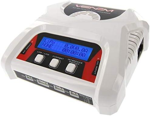 Venom 듀얼 LiPo 충전기 밸런스 충전 포함   1S  4S AC DC 프로 컴팩트 고속 LiPo 배터리 충전기 에어소프트 드론 및 기타 LiPo RC 배터리용 / Venom 듀얼 LiPo 충전기 밸런스 충전 포함   1S  4S AC DC 프로 컴팩트 고속 LiPo 배터리 충전기 에어소...
