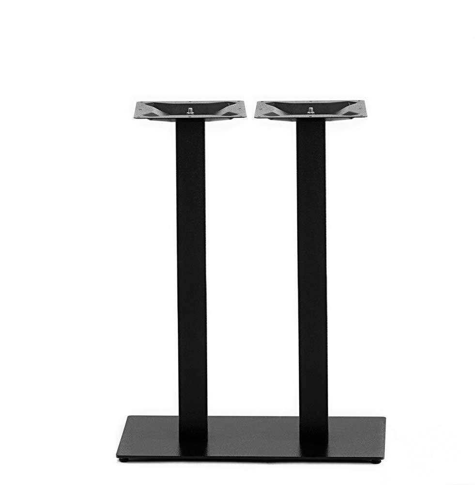schwarz pulverbeschichtet Zweis/äuliges Stehtischgestell aus Stahl