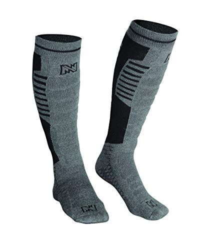 Mobile Warming Heated Standards Socks, Grey/Black, Men 4-10/Women 6-11