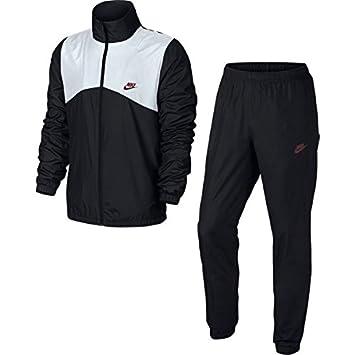 99288969a7e96 Nike M NSW TRK Suit WVN Halftime Survêtement pour Homme S Multicolore - Noir /Blanc
