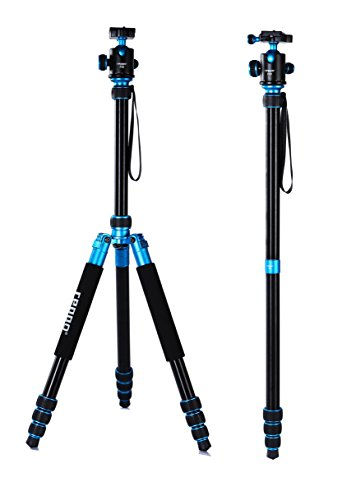 (Camera Tripods 70 inch REPPO P18 Portable Aluminium Travel Tripod for Canon Nikon Sony Olympus DSLR Flexible Foldable Camera Tripod with Ball Head and Carry Case-Matte)