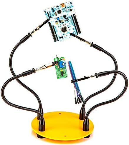 KOTTO Third Hand Soldering Tool PCB Holder Four Arms Helping Hands Crafts Jewelry Hobby Workshop Helping Station Non-Slip Steel Weighted Base
