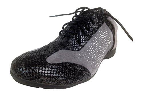 andiamo-sideshow-grey-crocodile-print-silver-studded-athletic-shoes-6-wide