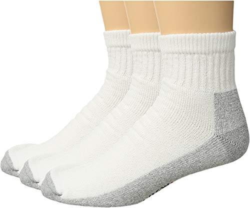 Socks Wigwam Quarter - Wigwam Men's At Work Quarter 3-Pack White/Sweatshirt Grey X-Large