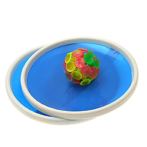 SODIAL(R) Blue Sticky Ball Game with 32 Suction Cup and 2 Round (Suction Cup Ball)