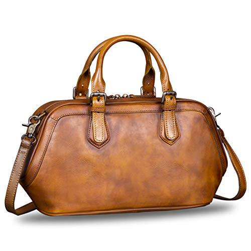 Genuine Leather Bags for Women Top Handle Handmade Handbag Vintage Style Crossbody Purses