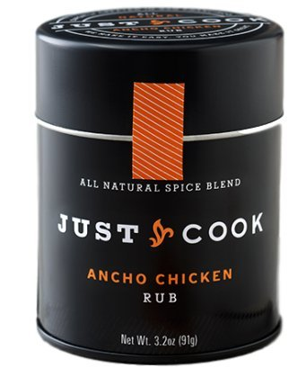 Organic Gourmet Ancho Chicken Rub   Just Cook 3 2 Oz    Non Irradiated  Gluten Free  Paleo Friendly   Vegan   Blend Of Bold  Spicy  Smoky And Sweet Flavors Puts Your Chicken On Center Stage
