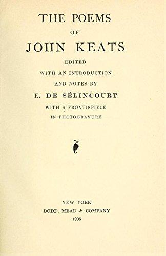 John Keats Poetry Pdf