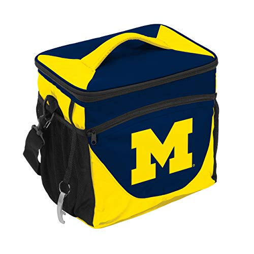 NCAA Michigan Wolverines 24-Can Cooler with Bottle Opener and Front Dry Storage Pocket