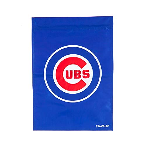 Ashley Gifts Customizable Embroidered Garden Size MLB Flag, Chicago Cubs