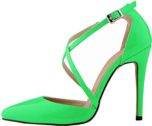 Find Sandales Green 5 Femme Nice EU Compensées 36 Vert waw47