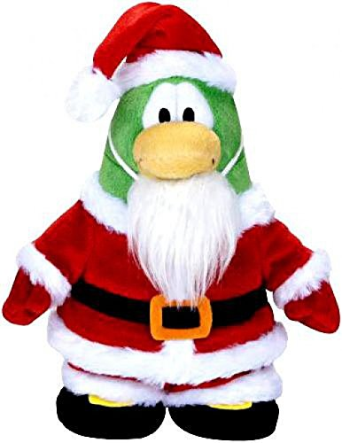 (Club Penguin Disney 6.5 Inch Series 5 Plush Figure Santa [Includes Coin with Code!])