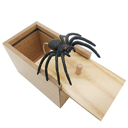 Spider In The Toilet (DE Spider Prank Scare Box,Wooden Surprise Box,Handmade Fun Practical Surprise Joke Boxes,Gags & Practical Joke Toys)