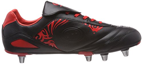 Homme Chaussures Rugby Black Optimum Red Red Rouge Razor de P4vqvIa